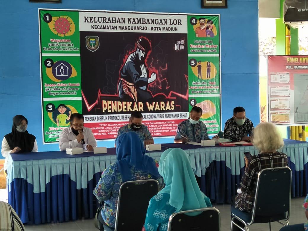 Pada hari Rabu Tanggal 21 Okr 2020 ada sosialisasi dari Forum Pokja Kelurahan Sehat berserta UPTD Puskesmas Manguharjo